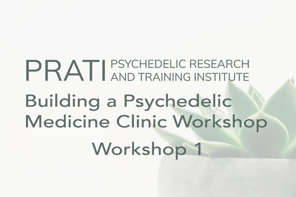 Building a Psychedelic Medicine Clinic, Workshop 1